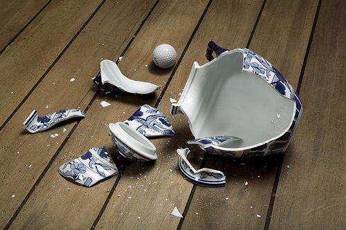 eltört váza